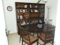Dining room furniture great condition wall and base units extending table+ 6x chairs