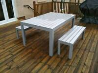 Ikea garden furniture table and benches