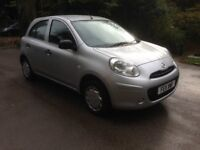 2011 NISSAN MICRA 1.2 VISIA £30 A YEAR TAX, FORMER LADY OWNER