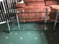 """Glass tv table to fit up to a 50"""""""
