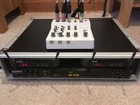 DJ Karaoke Yamaha Audiogram 6, 2x Mixer Shure PG4X Ultimate KDX5000 Flight Case