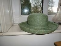 Seasalt straw hat with wide brim. lovely light green colour. medium size. Never worn