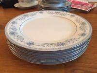 "Noritake Blue Hill 10"" plates"