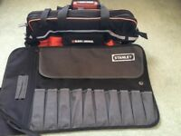 BLACK & DECKER WIDE MOUTH TOOL BAG + STANLEY TOOL ROLL