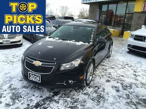 2014 Chevrolet Cruze 2LT, RS PACKAGE, LEATHER, SUNROOF, 6 SPEED