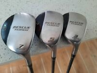Taylor Made Rescue Fairway set 3, 5 and 7 woods