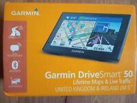 "Garmin DriveSmart 50LMT-D 5"" Sat Nav with UK & Ireland Maps"
