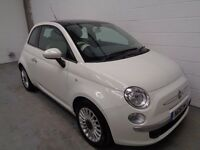 FIAT 500 , 2012 , ONLY 22000 MILES + FULL HISTORY, LONG MOT, GLASS ROOF, FINANCE AVAILABLE, WARRANTY