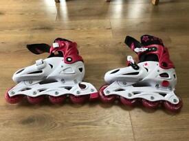 Girls roller blades size 37-40euro or 4.5-7uk