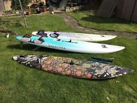 Windsurfing Equipment - 3 Boards, 3 Sails 3, 3 Mast and 2 booms