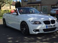 2008 BMW 320 convertible M sport ..... full red leather ..... M3 rep ..... Low mileage.....