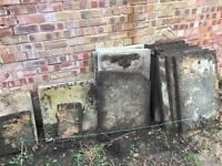 Free patio concrete slabs