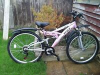 Ladies mountain bike for sale. Trax ladies mountain bike . Excellent condition . Used once