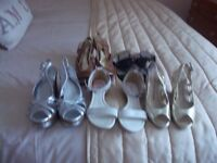 5 pairs of as new shoes size 5