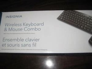 Insignia Wireless Keyboard and Mouse. USB Receiver. For Computer PC / Desktop / Macbook / Surface / Laptop / Chromebook