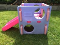 Little tikes outdoor activity gym/cube/slide/climbing frame.