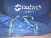 Outwell Montana 6 used once
