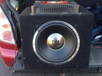 Car jbl subwoofer and Sony explode amp