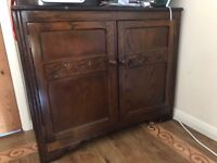 Drinks cabinet and cupboard