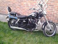 ajs 125 cc , regal raptor , cruiser , chopper, winter project , spares, 450 if gone today