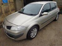 2007 Renault Megane Dynamique 1.6 Petrol 5 Door Gold Low Miles Long MOT Warranty Available
