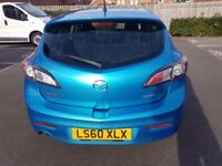"MAZDA 3 SPORT 60 plate FACELIFT 2010 MODEL only 88k PEARL BLUE Manual 18""unmarked AlloysHEATED seats"