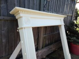 Wooden fire surround , good condition, paintable