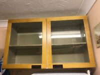 Kitchen Wall Cupboard with glass doors