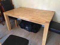 Light oak veneer modern dining table