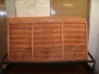 Waney Lap Larch Lap Garden Fence Panels 6ft(wide) x 2/3/4/5/6ft(high)