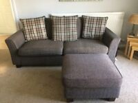Sofa with footstool and armchair SCS