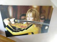 kill bill - uma thurman - oil painted canvas