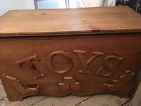 Handmade solid wood toybox