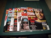 UNCUT MUSIC MAGAZINES 7 ISSUES 2007