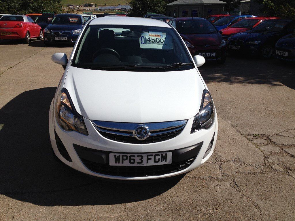 63 Plate Vauxhall Corsa 1 3 Cdti Exclusive Eco Flex 5dr 30roadtax 60 Mpg 4500
