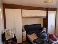 Sharp's Dark Walnut Bedroom Furniture Set ( Doors Only) - As new
