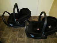 Baby car seats with bases
