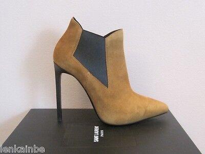 YSL Yves Saint Laurent Classic Paris 110 Suede Ankle Boots Booties $995 39.5 9.5