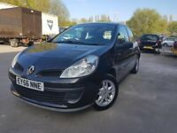 2006 - renault clio - 1.1 petrol - expression - one year mot - warranted low 67K - new clutch fitted