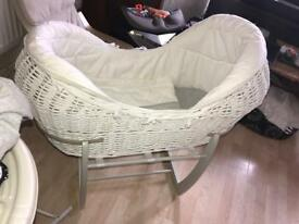 Mamas&papas mosses basket memory foam mattress mothercare baby bath