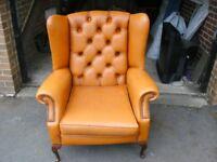 chesterfiels queen anne chair