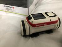 Tom Tom bandit action camera with remote and mounts