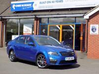 SKODA OCTAVIA 2.0 TDi VRS CR DSG 5rd AUTO (180) ** Sat Nav & Superb Performance ** (blue) 2015