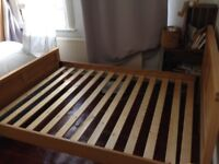 Wooden Double-Bed Frame
