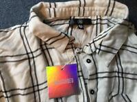 White Size 12 Ladies Shirt - New with tags, Baggy