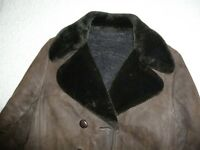 Ladies Retro Sheepskin Coat - size 12