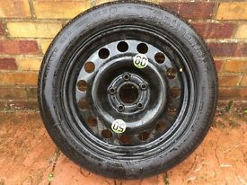 """Continental SPACE SAVER SPARE WHEEL 17"""" 135/80/ R17 BMW Ford Mercedes Vauxhall"""