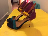 NEW River Island multi coloured heels size 5
