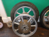 kawasaki motorcycle wheels vgc