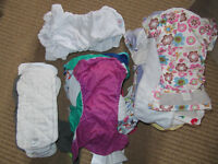 28 REUSABLE NAPPIES + 11 inserts/boosters
